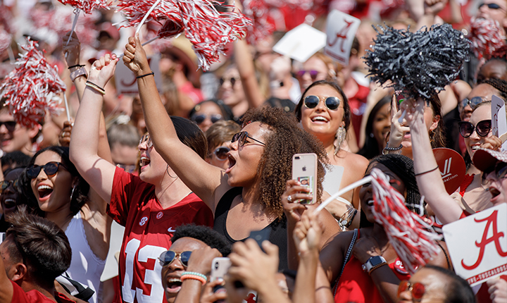 Student Section within Bryant Denny Stadium